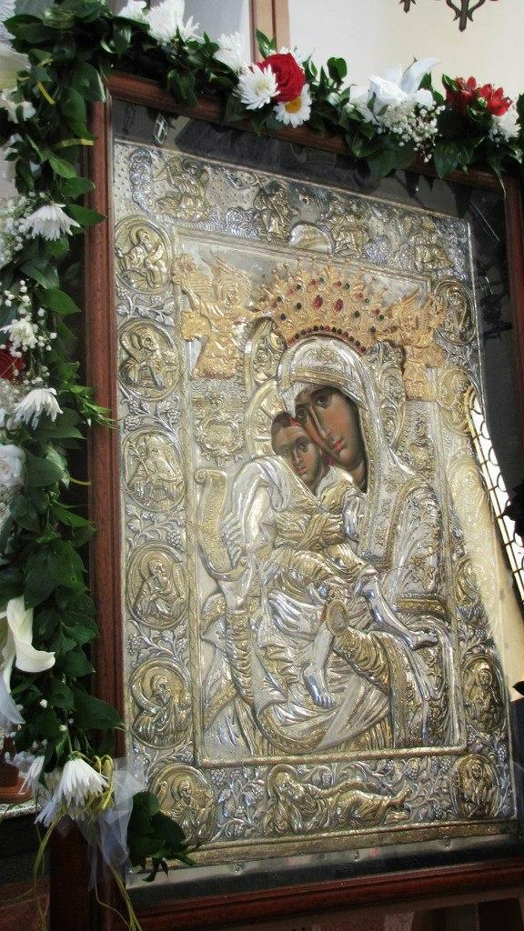 Икона Пресвете Богородице Достојно Јест. Манастир Ваведење Београд