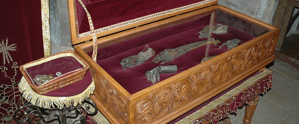 Ковчег с частью мощей прп. Ангелины и других Бранковичей в монастыре Крушедол. Фото иером. Игнатий (Шестаков)