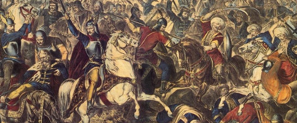 Фрагмент картины «Бой на Косово». Автор: Адам Стефанович.