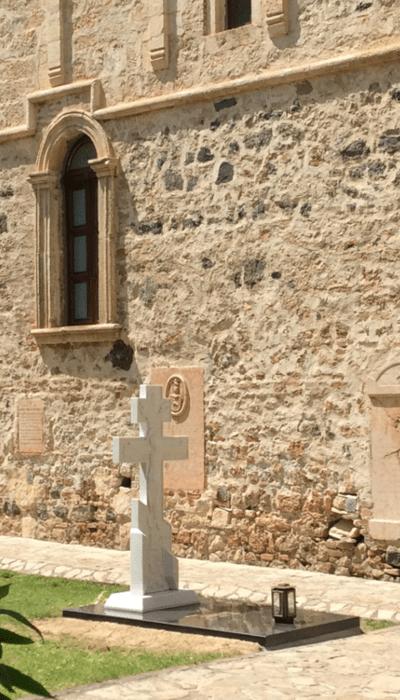 Гроб игуманије Екатерине Јефимовске у манастиру Хопово (фото: монахиња Теодора Васић)