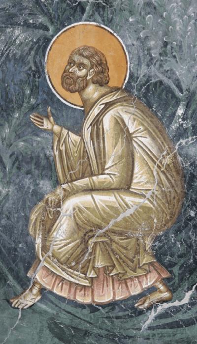 Фрагмент фрески Молитва Иоакима. Монастырь Печская Патриархия (Сербия)