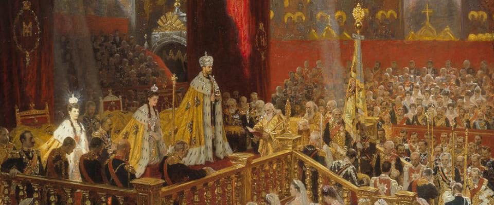 Коронация императора Николая II Александровича и императрицы Александры Феодоровны. Художник: Лауриц Туксен, 1898 г.