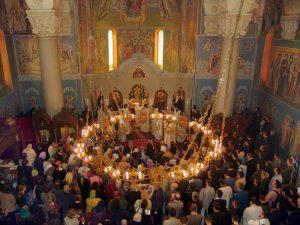 Архијерејска Литургија у храму манастира Ваведења